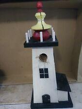 """14.5"""" Wooden Lighthouse Bird House"""