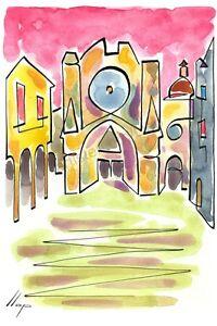 Llop - Tarragona catedral - litografia 30x21 edició limitada