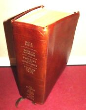 QUAD Book of Mormon Triple Holy Bible Brown Genuine Leather LDS 1997 Indexed