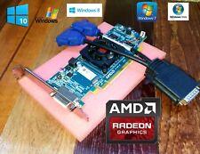 HP Compaq dc7100 Tower Radeon Dual Monitor VGA Video Graphics Card +Cable