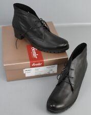 Semler Ankle Boots Schnür-Stiefelette Leder Gr. 45 / 10 Schwarz Fußbett P3-S45