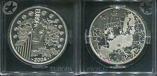 """FRANKREICH 2004 - 1,50 Euro in Silber, PP! EU-Erweiterung """"EUROPA STERN"""""""