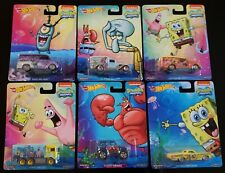 2014 HOT WHEELS pop culture SPONGEBOB SQUAREPANTS  6 Car Set  NICE!!