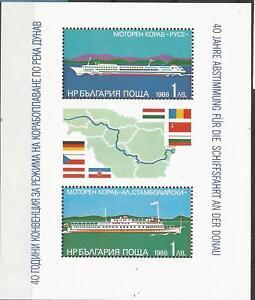 BULGARIA Scott# 3380  HB 1988 Cruceros por el Danubio barcos