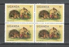 T58 - UGANDA 1979 - QUARTINA ANIMALI ** - VEDI FOTO