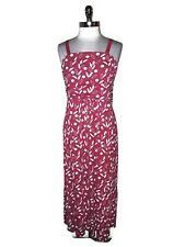 NEW LANE BRYANT Plus Size 1X 14 16 Long Maxi Dress Pink White Stretch Knit