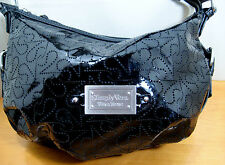 Simply Vera By Vera Wang Black Patent Hobo Handbag Bag