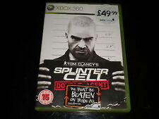 Tom videojuego SPLINTER CELL-doble agente Microsoft Xbox 360-Juego-PAL