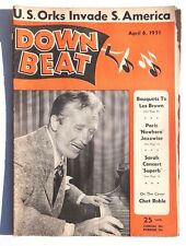Vtg April 6, 1951 DOWN BEAT Vol. 18 No. 7 (Chet Roblel LES BROWN) Music MAGAZINE