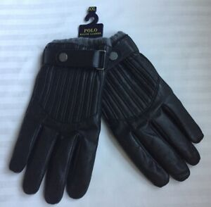 Polo RALPH LAUREN Leather GLOVES Size: XXL (XX LARGE) New SHIP FREE Warm Driving