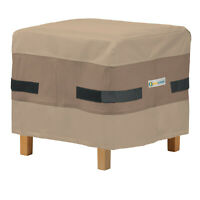 Duck Covers Heavy Duty Patio Ottoman Cover, Elegant - MULTIPLE SIZES/SHAPES!