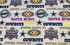NFL Dallas Cowboys Superbowl Championship Fabric RARE 1/4 Yard 9 X 44