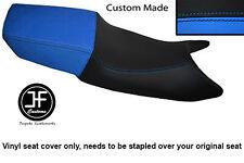 Vinilo Negro Y Azul Claro Personalizado Para Honda CBR 600 F 87-90 Doble Cubierta de asiento solamente