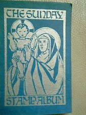 Vintage collectable the Sunday Stamp Album religion faith rare 1949-1950