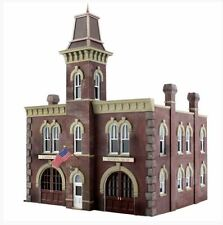 5034 Woodland Scenics Firehouse Fire Station Built Up Ho Scale