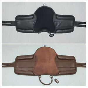 "Equirider's Leather Pony Pad Saddle for Juniors Black & Havana Brown 12"" -15"""
