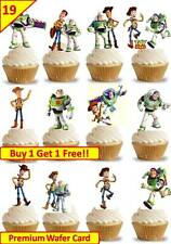 38 juguete historia Woody Buzz Lightyear Cup Cake Toppers Comestible Oblea Arroz * stand Up *