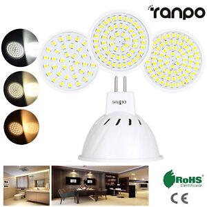 MR16 LED Spotlight Bulbs 3W 5W 7W 2835 SMD Super Bright White Lamp 230V 12V 24V