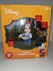 Disney Mickey Mouse Thanksgiving Outdoor Inflatable  3.8 ft. Tall Pre Owned