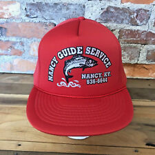 d4713021fad49 Vintage Fishing Hat Nancy Guide Service Red Trucker Cap Snapback KY Fish H8