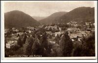 Friedrichroda Thüringen Postkarte 1930 gelaufen Gesamtansicht vom Kurhaus aus