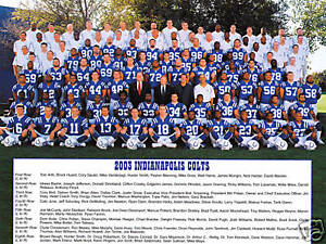 2003 TEAM photo picture Indianapolis Colts Peyton Manning 8 X by 10