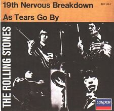 ROLLING STONES  19th Nervous Breakdown & As Tears Go By 45 PICTURE SLEEVE NEW