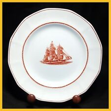 Wedgwood Flying Cloud Rust 8 Inch Salad / Dessert Plates