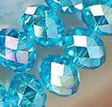 100 un. Rondelle Facetado Vidrio Cuentas De Cristal De 6 Mm Azul Cielo la fabricación de joyas