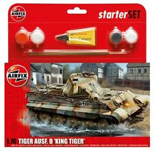 Airfix king tiger tank starter set-military-model kit-tank