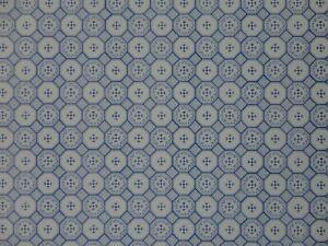 DOLLS HOUSE 1/12 SCALE WALLPAPER - J HERMES 'MERITAS' - WHITE & BLUE - 0114