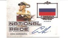 New listing 2015 Leaf Legends of Sport Anna Kournikova National Pride Autograph card