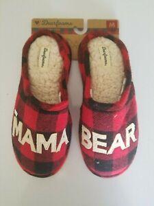 "Dearfoams Memory Foam ""Mama Bear"" Holiday slippers, size: Medium (7-8)"