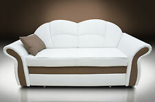 BONDED LEATHER! NEW MODEL, SOFA BED  TWO SEATER ROMERO WITH HIDDEN BED! COLOURS