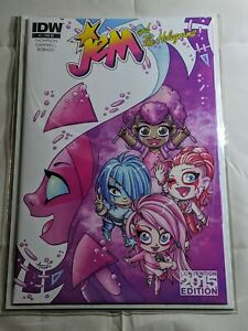 Jem & the Holograms #1 RE ECCC 2015 Convention Exclusive Variant Cover IDW Comic