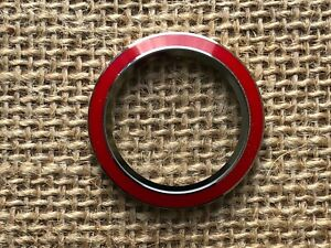 Authentic Origami Owl Large Living Locket Red Enamel Twist Face - NEW