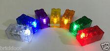 7 Light Up BRICKS BLOCKS 2x4 Red Yellow Green Blue White Purple Orange fits LEGO