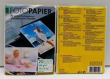 40 Blatt (2 x 20) Fotopapier 240g 10x15 hochglänzend wisch- und wasserfest