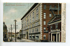 Pawtucket RI Rhode Island Masonic Temple, street view, city hall, 1906