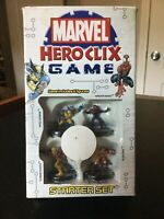 Marvel Hero Clix Game Starter Set Wolverine Sabertooth Spiderman Hobgoblin Wasp