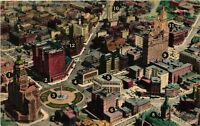 Vintage Postcard - Un-Posted Aerial View Of Downtown Buffalo New York NY #3670