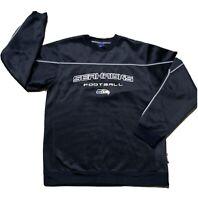 Seattle Seahawks Sweatshirt Reebok NFL Football Mens Size Medium Dark Blue