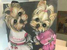 TWO YORKIES PRINTED TOTE FROM ORIGINAL PAINTING