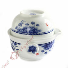 Chinese JingDe Porcelain Peony Gaiwan Teapot Teacup Quick Gongfu Tea Maker Set