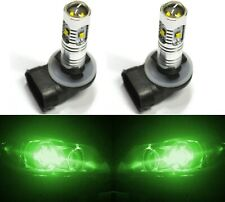 LED 30W 889 H27 Green Two Bulbs Light Front Turn Signal Backup Reverse Lamp