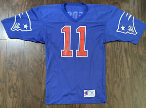 Vintage Drew Bledsoe Champion Jersey Mens 44 New England Patriots NFL Football