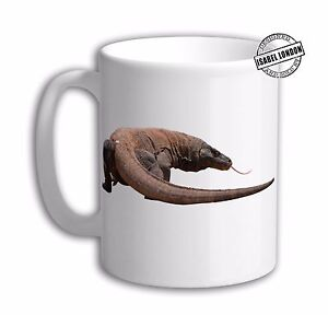 Personalised Komodo Dragon monitor Mug. Customise with your own text.FOC. IL6591