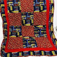 Fireman Fire Truck Fighter Handmade Baby Quilt Blanket 42x34�