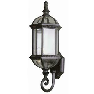 Bel Air Lighting Wentworth 1-Light White Outdoor Wall Lantern Sconce