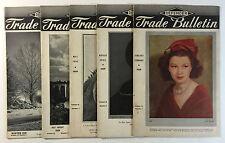 5 Vintage Defender Trade Bulletins, Photography Mag., Jan/Feb 1939 - Winter 1940
